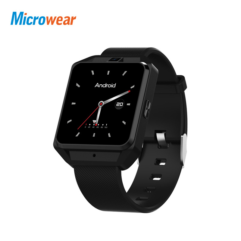 Microwear H5 4G Smart Watch Men Android IOS WiFi Phone SIM 1G RAM 8G ROM GPS Heart Rate Monitor Call Sport Smartwatch Camera