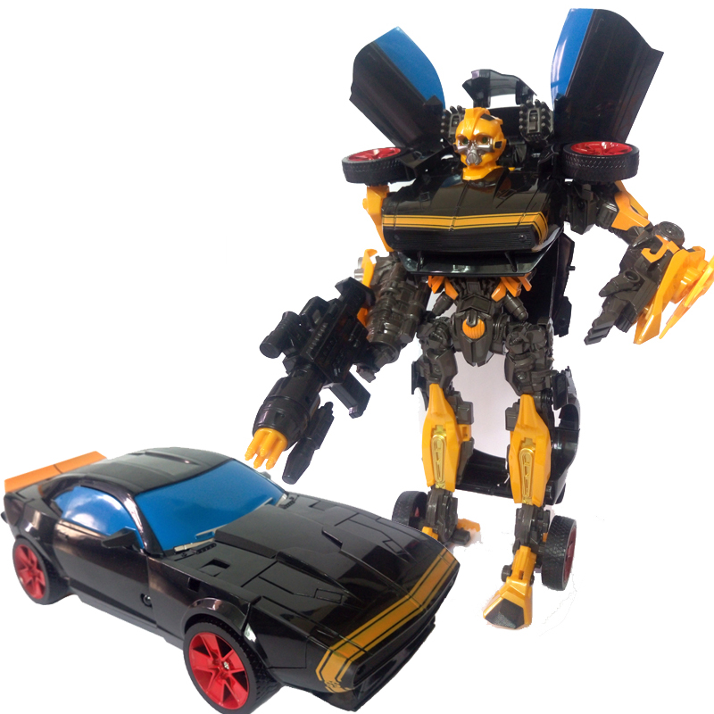 45cm Robocar Transformation Black  antiq Robots Car model Classic Toys Action Figure Gifts For Children boy toys Music car model meng badi 1pcs lot transformation toys mini robots car action figures toys brinquedos kids toys gift
