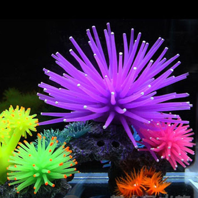 Aquarium Accessories Coral Ornaments Artificial Fake Coral Silicone Adorable Faux Coral Decorative Accessories