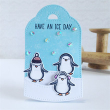 YaMinSanNiO Polar Bear Penguin Stamps and Dies Scrapbooking Card Making New 2019 Arrival for Decor Card Album Photo Making