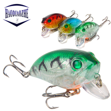 Купить с кэшбэком HAODIAOZHE Crazy Fishing Lure Isca Artificial Hard Crank Bait Wobbler 8.1g 4.5cm Crankbait Topwater Pesca Fishing Lures  YU504