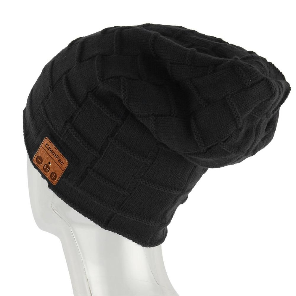 New Bluetooth Cap Beanie Knitted Winter Hat Wireless Bluetooth headset Hands-free Music Mp3 Speaker Mic Magic Sport Hats for sport bluetooth music hat cap handsfree headset headphone built in speaker mic