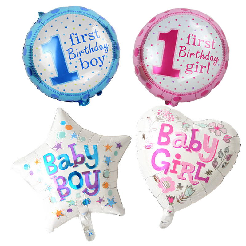 5pcs/lot pink Blue Number Foil Balloons Baby 1st Birthday balloon birthday party decorations kids party decoration baby shower