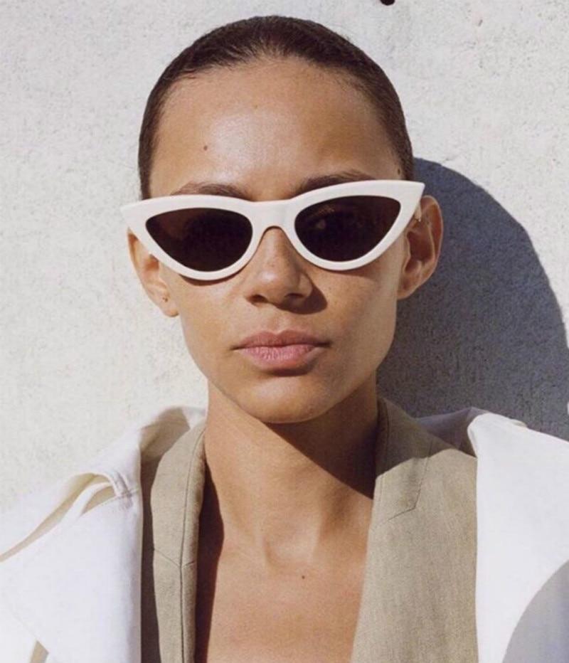 2018 Cat Eye Sonnenbrille Frauen Sonnenbrille Mode Damen Vintage Gläser Weibliche Dreieck Sexy Retro Oculos De Sol Feminino Uv400