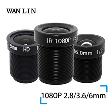 "WANLIN 1080P 2.8/3.6/6mm CCTV LENS Security Camera Lens M12 2MP Diafragma F1.8, 1/2. 5 ""Beeldformaat Surveillance Camera Lens HD"