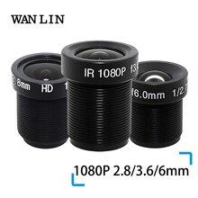 """WANLIN 1080P 2,8/3,6/6mm CCTV OBJEKTIV Sicherheit Kamera Objektiv M12 2MP Blende F1.8, 1/2. 5 """"bild Format Überwachung Kamera Objektiv HD"""