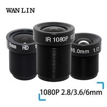 """WANLIN 1080P 2.8/3.6/6mm עדשת טלוויזיה במעגל סגור אבטחת מצלמה עדשת M12 2MP צמצם F1.8, 1/2. 5 """"תמונה פורמט מעקב מצלמה עדשת HD"""