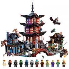 Fit Legoness Ninjago серии 70751 храм Airjitzu Набор мини цифры 06022 Мини версия здания Конструкторы игрушечные лошадки для детский подарок