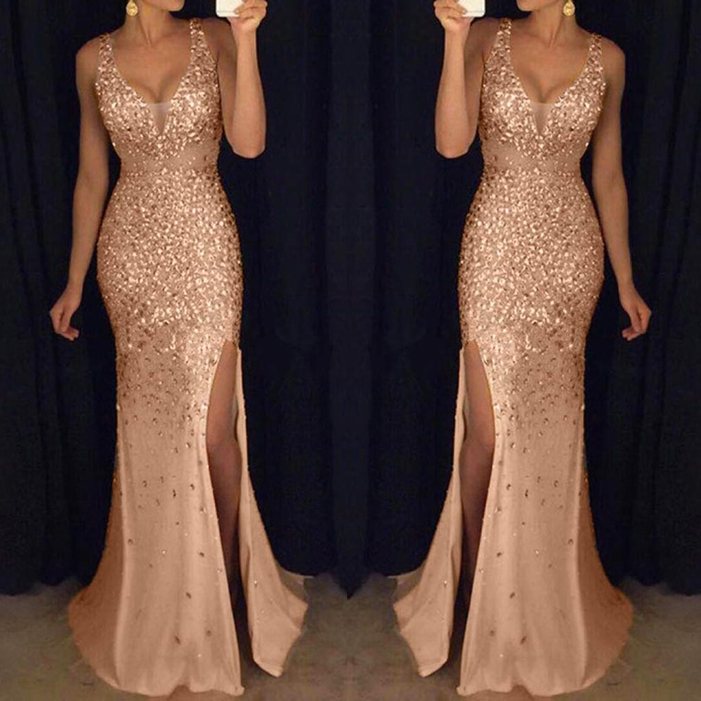 New Fashion Spring Summer Women Sequin Prom Party Sexy