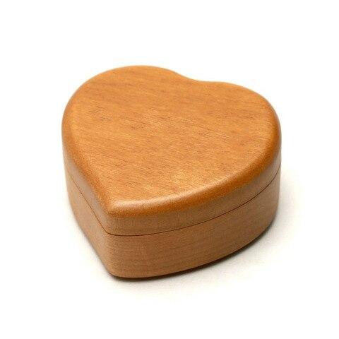 Maple solid wood heart shape music box girlfriend lover birthday gift Christmas new year wooden creative decompresses HEBFG15 Multan