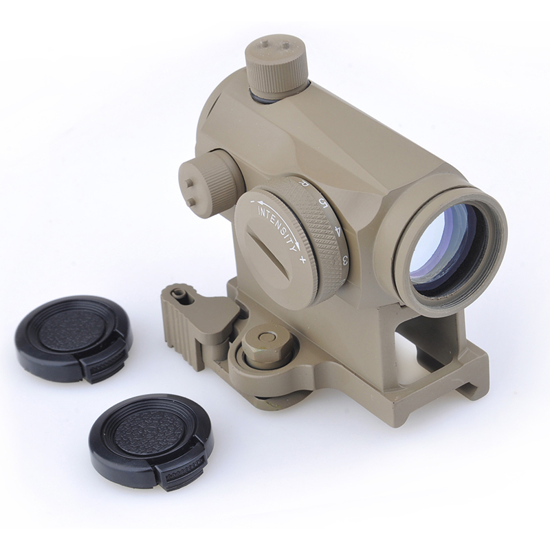 SEIGNEER Tactical Mini 1X24 <font><b>T1</b></font> <font><b>Red</b></font> Green <font><b>Dot</b></font> Sight Illuminated Sniper Rifescope With Quick Release Hunting Air Gun Rifle Scope image