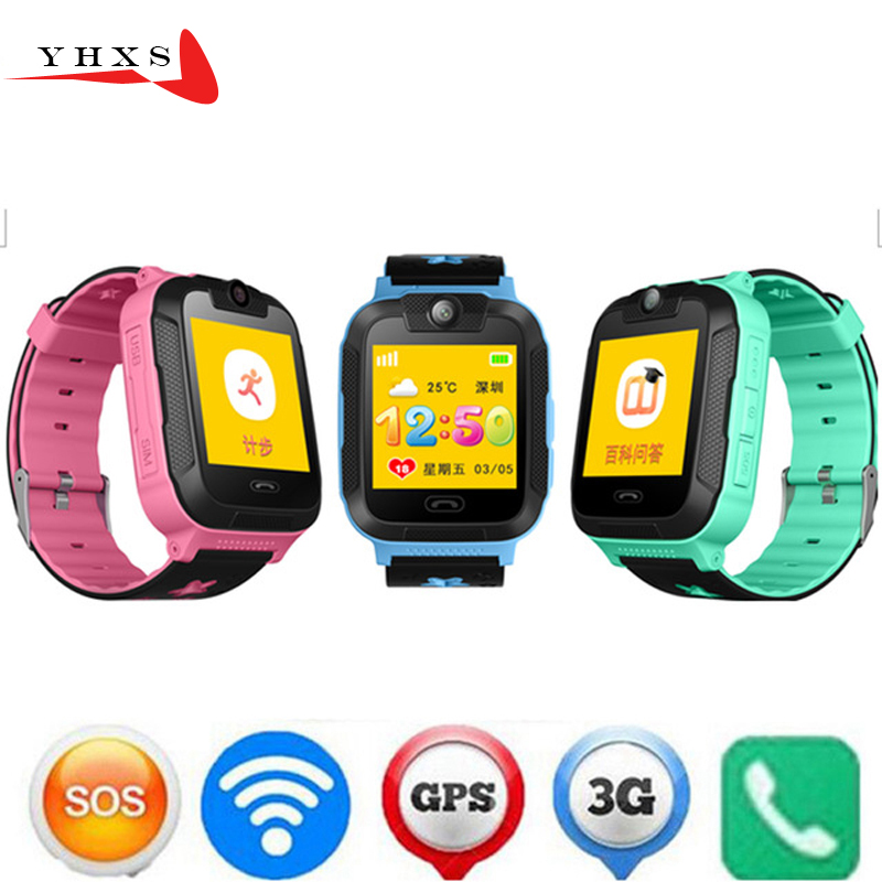 New 3G Wifi GPS Tracker Children Smart Watch Touch Screen Security Fitness Monitor Smartwatch With Camera