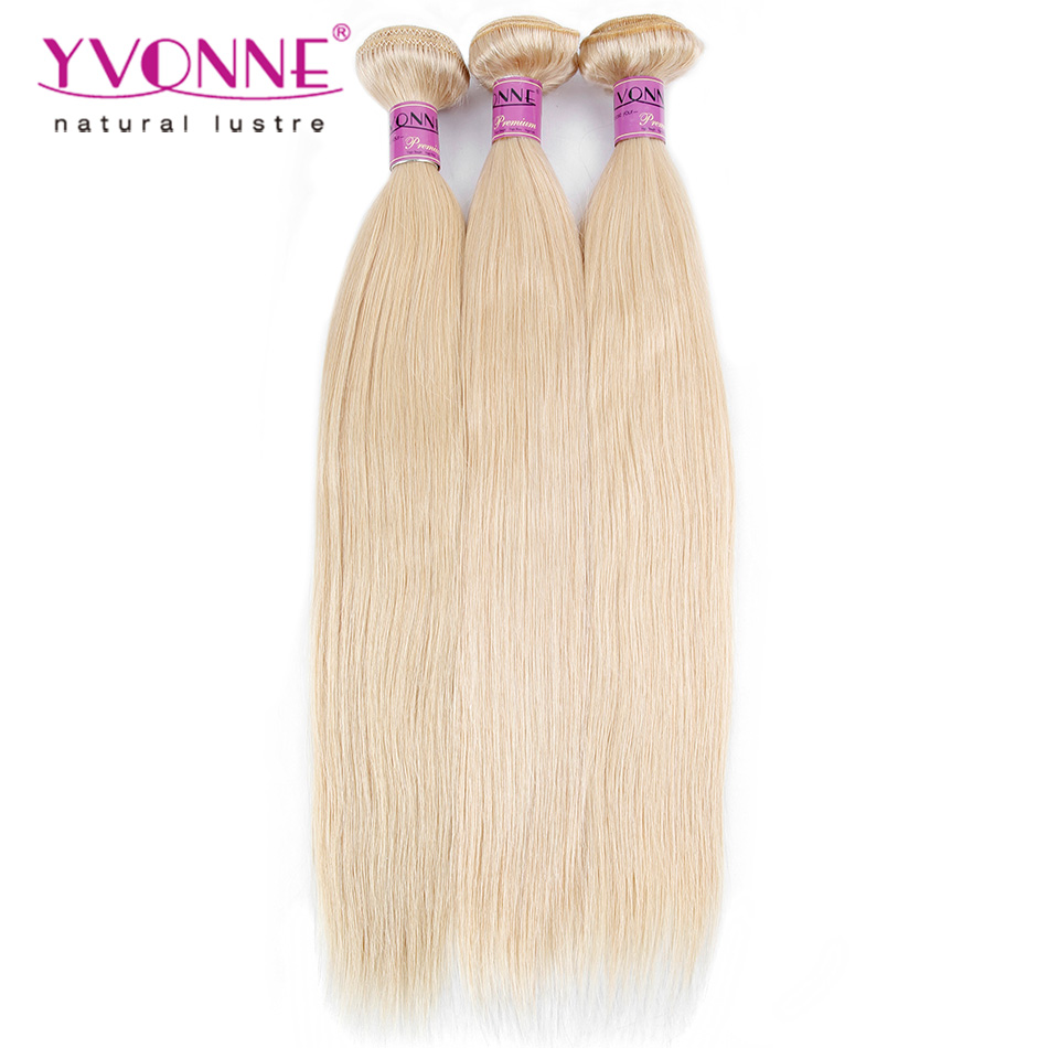 ФОТО 3Pcs/lot Blonde Brazilian Hair Straight,Color 613 Human Hair Weave,16-22 Inches Aliexpress Yvonne Hair
