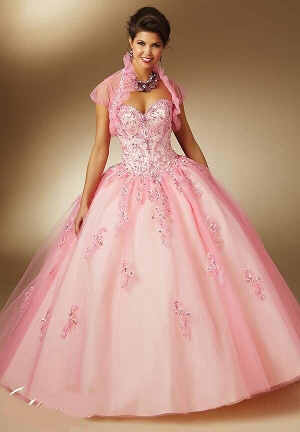 Rosa y azul del vestido de bola vestidos de quinceañera con la ...