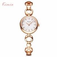 KIMIO 2017 Brand Quartz Women Fashion Bracelet Watch Gold Skeleton Gorgeous Ladies Wristwatches Female Relogio With