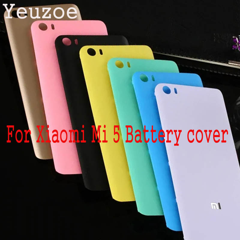 Yeuzoe New Frosted Plastic <font><b>Battery</b></font> Back <font><b>Cover</b></font> For <font><b>Xiaomi</b></font> <font><b>Mi5</b></font> Mi 5 M5 <font><b>Battery</b></font> housing <font><b>cover</b></font> replacement Parts for <font><b>Xiaomi</b></font> 5 image
