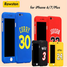 360 Full Body Basketball Cover Phone Case for iPhone 8 7 6s Plus 6 7Plus Funda Capa Air Michael Jordan Bryant Curry(China)