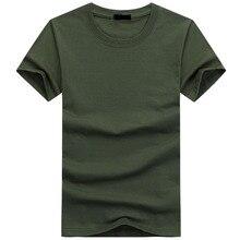 2019 de alta calidad de moda para hombre Camisetas Casual de manga corta Camiseta hombre sólido Casual algodón camiseta verano ropa 5XL TX112