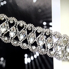 2018 Luxury Hollow Flower Crystal Rhinestone Choker Collar Women Gold Silver Chain Necklace Statement Wedding Jewelry for Party