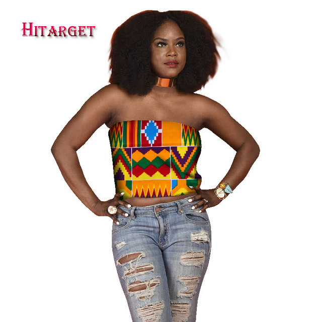 5cbf0932a5 2019 African Style Customized Print Sleeveless Tops for Women African Print  Dashiki Slash Neck Fashion Top Tees Plus Size WY2074