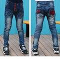 Niños Jeans Para Niños Ropa Niños Del Otoño Del Resorte Pantalones de Mezclilla Niños de La Escuela Ropa Chicos Adolescentes Pantalones carina kling 910