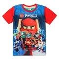 Мальчики одежда lego ninjago рубашки для мальчика 2015 новая мода высокого качества лето топы с коротким рукавом футболка
