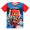 Boys clothing lego ninjago shirt  for boy 2015 new fashion high quality summer tops short sleeve  t shirt