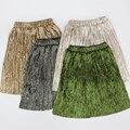 Vintage femme jupe saias curtas das mulheres 2017 de moda de nova velvet mini saia de verão novo bom tecido de camurça falso de cintura alta