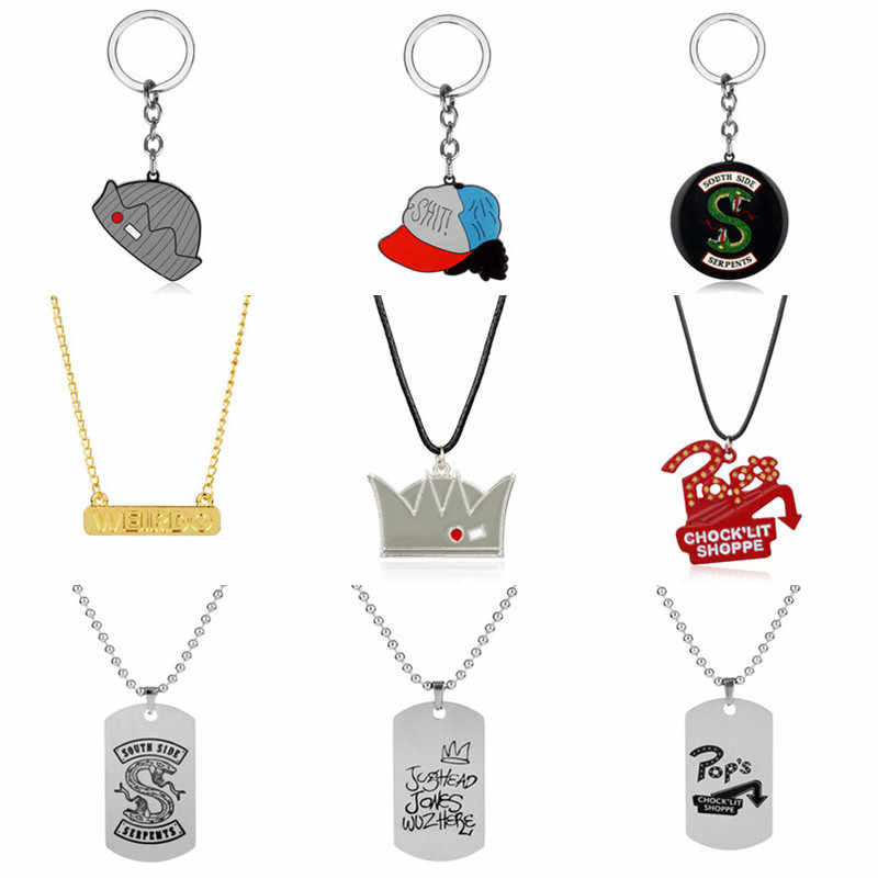 2019 New Arrival,Riverdale Pop's Chock'lit Shoppe Design Lovely Pendant Necklace Red Enamel Metal Keychain Men Women Jewelry