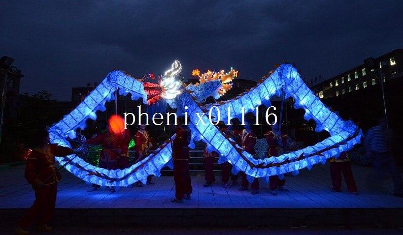 18M 10 volwassen lichtbron CHINESE DRAAK DANS Dragon mascot kostuum - Carnavalskostuums