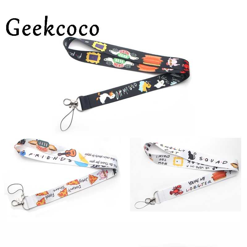 Friends TV show diy keychains Accessory Safety Breakaway Mobile Phone USB ID Badge Holder Keys Strap Tag Neck lanyard J0236