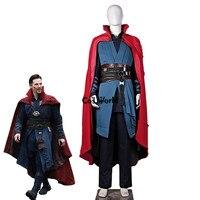 Movie Doctor Strange Dr Strange Steve Men Battle Suit Uniform Full Set Outfit Halloween Carnival Festival