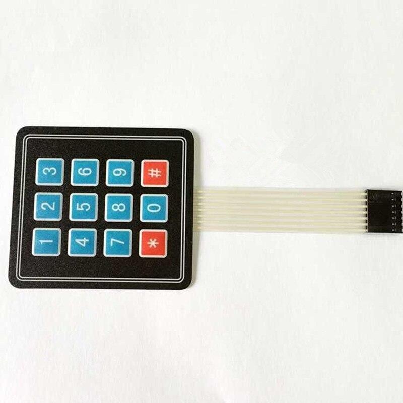 2Pcs 3*4 Matrix Keypad Membrane Switch MCU Expansion Keyboard Control Panel For Arduino