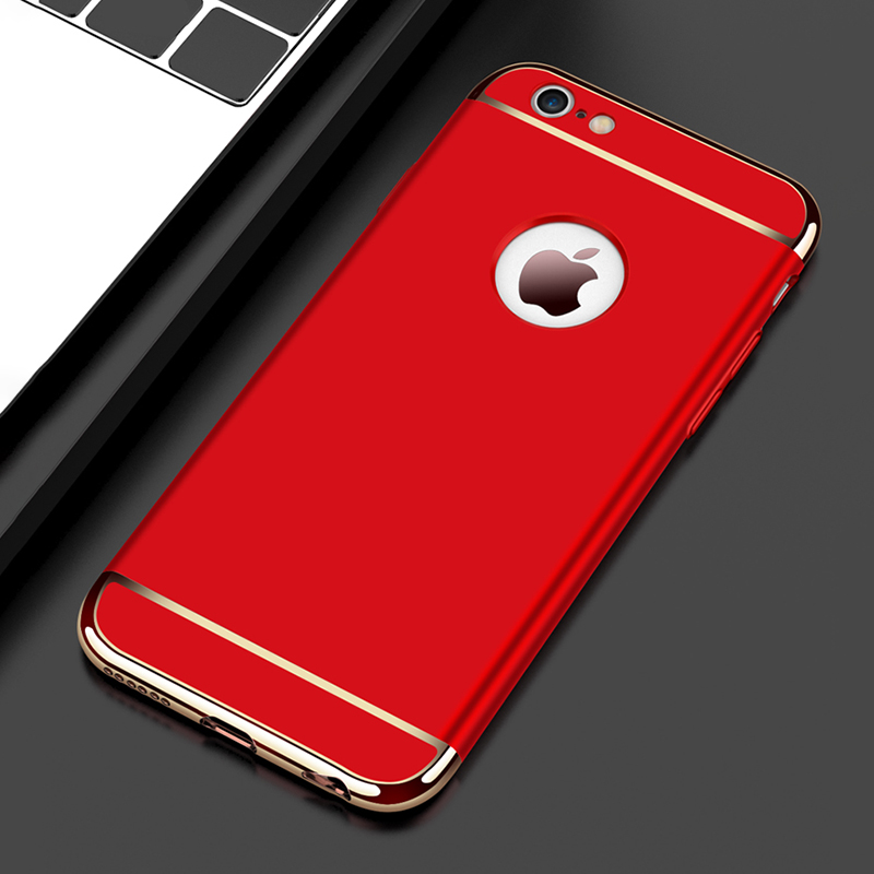 3 in 1 Luxury Hard PC Case For iPhone XS Max XR XS X 6 7 8 Plus 5 5S SE Phone Back Cover Case For iPhone XS Max XR XS X 8 7 6 6S