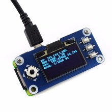 Waveshare 1,3 дюймовый oled-дисплей шляпа для Raspberry Pi 2B/3B/3B+/Zero W, 128x64 пикселей, SPI, igc интерфейс, встроенный контроллер