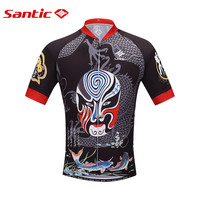 Santic peking opera facebook rower oddychająca jazda na rowerze jazda na rowerze jersey krótki rękaw kurtki topwere sport jersey m0602094