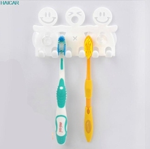 Bathroom Sets Cartoon Sucker 5 Position Toothbrush Holder Suction Hooks  jan26