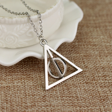 Deathly Hallows Necklace Jewelry-Accessories Charm Triangle Women for And Rotated The