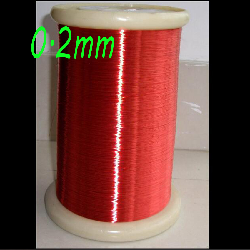 cltgxdd 100m Red Magnet Wire 0.2mm Enameled Copper wire Magnetic Coil Winding 100m high temperature polyester imide enameled copper wire 0 51mm qzy 2 180