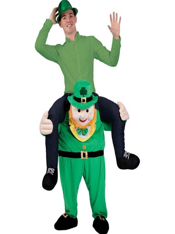 St Patricks Day Leprechaun Irish Shoulder Carry On Piggy Back Ride Me Costume
