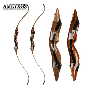 Image 1 - 25 55 lbs Recurve Bow 58inch Longbow American Hunting Bow Archery Competition Shooting Training Accessories
