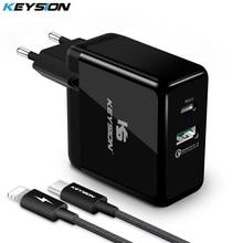 KEYSION 36 واط USB C PD سريع شاحن آيفون 11 برو XR XS ماكس سريع تهمة 3.0 شاحن USB حائطي محول ل سامسونج شاومي redmi
