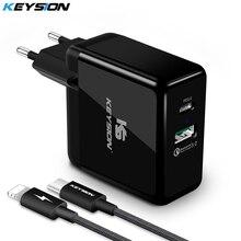 KEYSION 36 ワット USB C PD 急速充電器 iPhone 11 プロ XR XS 最大急速充電 3.0 壁 USB 充電器アダプタサムスン Xiaomi redmi