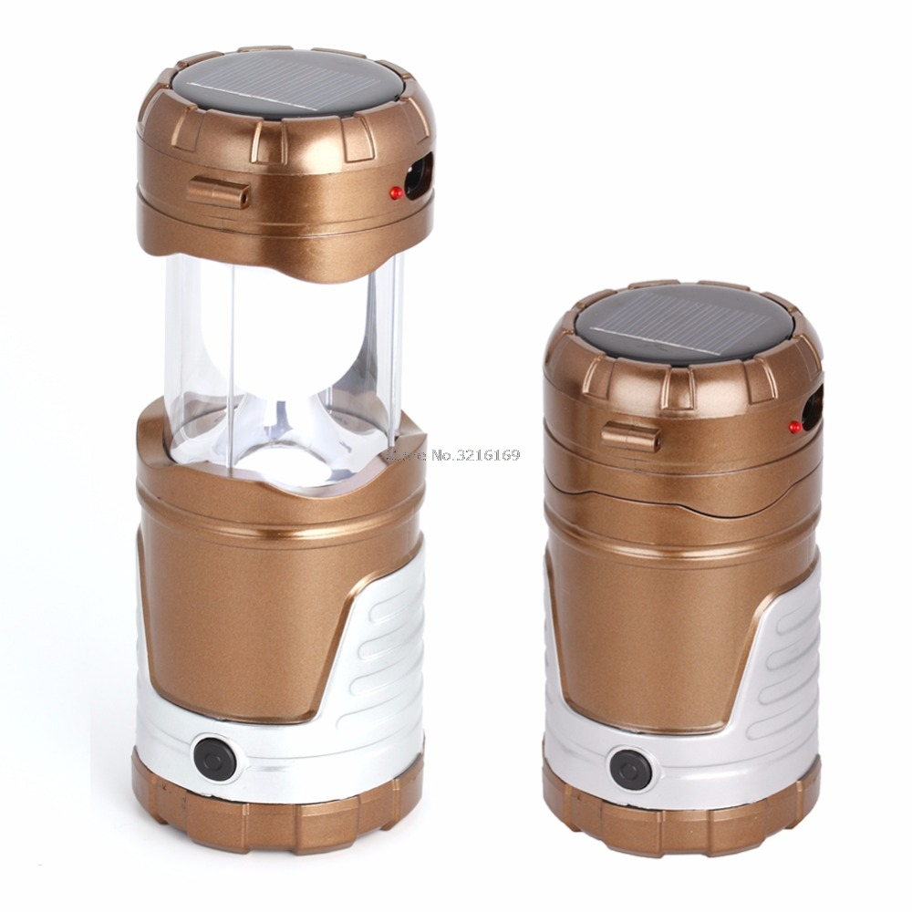 For Rechargeable Solar LED Folding Lamp Tent Light Lantern Outdoor Camping Fishing Promotion