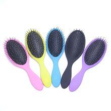 1PC חדש סלון Detangling שיער מסרק לנשים גברים שיער בוש רטוב יבש זיפים פלסטיק ידית שיער מברשות קומבס מכירה לוהטת