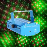 ミニポータブル360度ip65 ledレーザープロジェクターのr & g、djディスコステージライトクリスマスパーティー照明ショー音声米国/英国プラ
