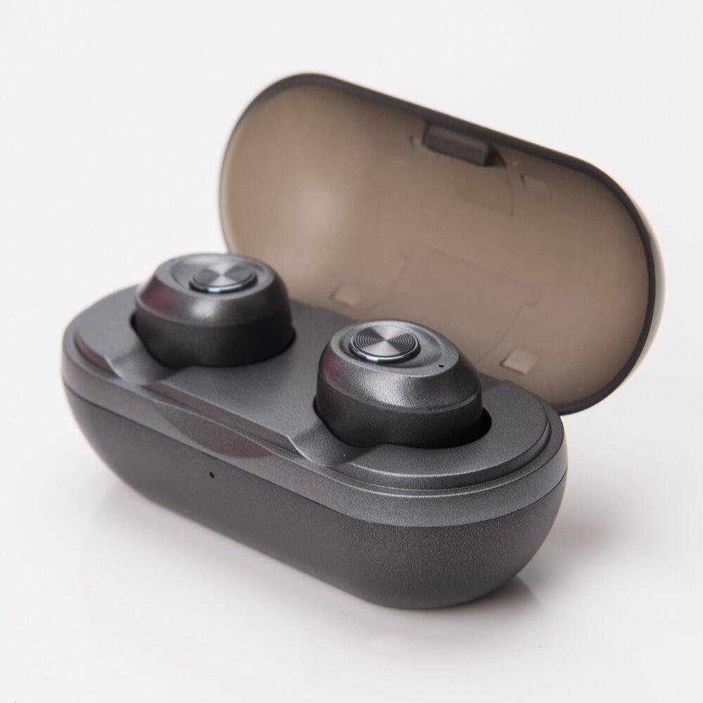 Auriculares inalámbricos Bluetooth Mini tamaño TWS Auriculares auriculares con caja de carga graves profundos auriculares estéreo con micrófono