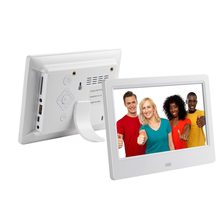 Moldura digital de fotos de 7 polegadas hd, moldura digital para tocador de vídeos com música e função de vídeo frete grátis