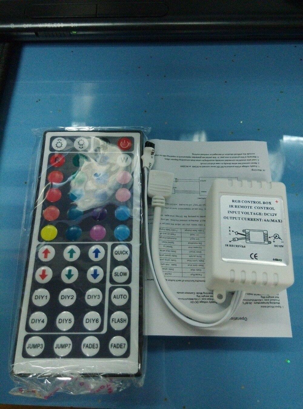 1pcs 12V 44Key IR Infrared Remote Controller For RGB LED Strip SMD 3528 5050 Led Lights Mini 44 Keys RGB Cnontroller Not Battery
