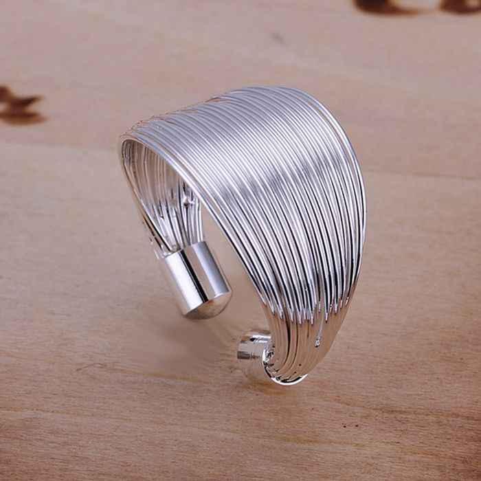 เงิน 925 แหวนแฟชั่นสายเงินเครื่องประดับ Ring แหวนผู้หญิงแหวนนิ้วมือของขวัญ SMTR018